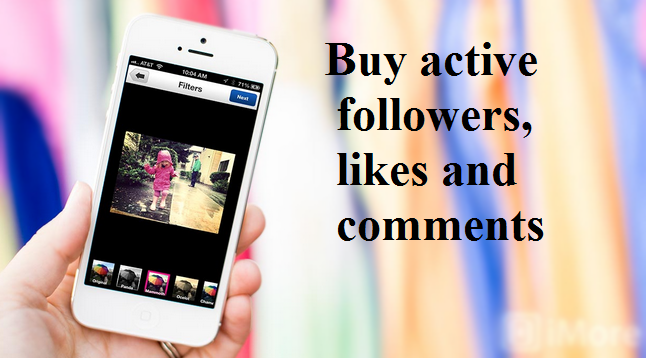 buy active Instagram followers, likes and comments